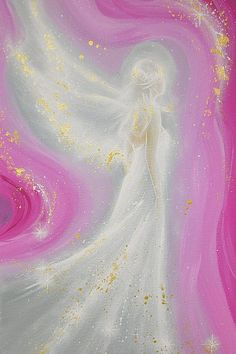 "Limited angel art photo ""always at your side"" , modern angel painting, artwork, perfect for frame"