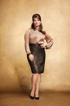 """""""Addition Elle Holiday Lookbook 2012, sequins, plus size""""-like the entire look"""