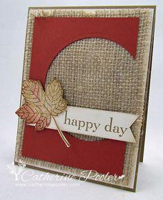 leaf happy day burlap