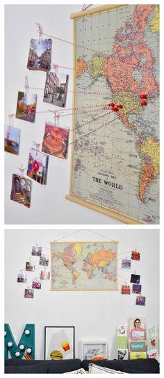 True Blue Me & You: DIYs for Creatives • DIY Travel Map Video Tutorial from You Make...