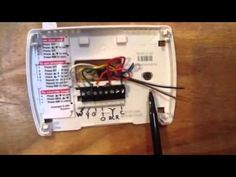 thermostat wiring colors to labels Thermostat wiring