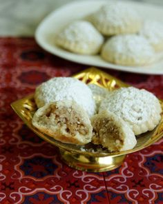 Walnut Ma'amoul ... a nut-filled pastry traditionally served on Eid in the Muslim world.