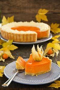 Pumpkin pie with swirls of whipped cream