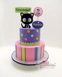 First Birthday Cakes Kitty Cat 1st Birthday cake Cat Cakes