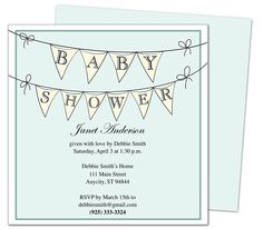 Baby Shower Invitations : PennantBoy Printable DIY Shower Template