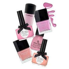 Six pastel nail polish colors for spring. ❤ liked on Polyvore