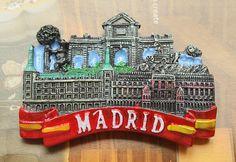Resin Fridge Magnet, Hand Painted, 7 x 5 cm, Mardid , Spain #(Excerpt)