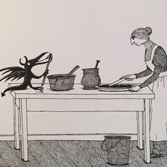 EdwardGorey  It brought a recipe for fudge of pounded pencil stubs and sludge.