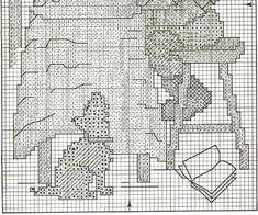 """Little Bookkeeper / Book Lore""  Hummel cross stitch, pattern, 2B"