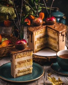 the year's loveliest season Cool Pictures, Cool Photos, Apple Cake, Autumn Inspiration, No Bake Desserts, Cravings, Waffles, Dishes, Breakfast