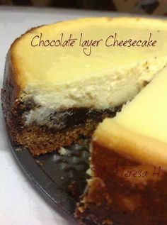 Chocolate Layer Cheesecake ️click here --> https://www.facebook.com/photo.php?fbid=632457870172299&set=a.101587679925990.2810.100002242745650&type=1&theater