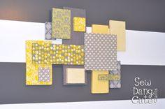 Home Dec Tutorial: DIY Custom Wall Art with Fabric + Foam (It's easier than you think!)