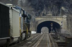 Close up view of tunnel at Harpers Ferry,  West Virginia  Art Reid, Photographer