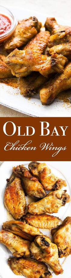 Another #Redskins game day is just around the corner! These old bay chicken wings would be a crowd pleaser at your game day party! Old Bay Chicken Wings Recipe, Chicken Wing Flavors, Roasted Chicken Wings, Chicken Wing Recipes, Baked Chicken, Teriyaki Chicken, Chicken Kabobs, Teriyaki Sauce, Appetizer Recipes