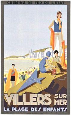 affiches stations balnéaires normandes | 1000+ ideas about Villers Sur Mer on Pinterest | Normandie, Trouville ...