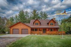 Log Home By Golden Eagle Log Homes - Front Exterior