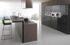 Minimal design Kitchen, but exclusive and sophisticated for the modern Twenty, too. Kitchen Cupboard Doors, Kitchen Cabinets, Brown Kitchen Furniture, Luxury Furniture, Modern Furniture, Kitchen And Bath, Kitchen Decor, E Design, Interior Design