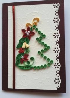 Christmas cards - quilling
