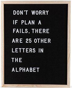 Felt Letter Board by Momentum Home | 16 Inch x 20 Inch Wo...