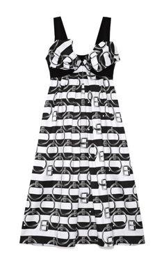 Shop Belt Stripe Jacquard Tank Dress With Bow by Giles - Moda Operandi