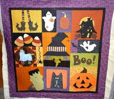 Halloween friendship block exchange for Marilyn L. Halloween Sewing, Fall Sewing, Halloween Quilts, Halloween Projects, Halloween Applique, Holidays Halloween, Halloween Fun, Halloween Decorations, Halloween Apples