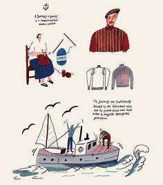 바다의 옷, 건지 스웨터  Around 2013년 11월호