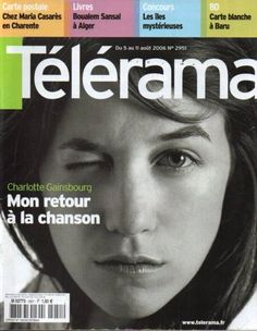 #charlottegainsbourg Charlotte Gainsbourg on the cover of Télérama n°2951, 2006