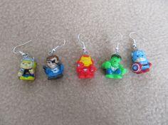 $15.00 Marvel Avengers earrings set Hulk, Thor, Cap, Iron Man, Fury