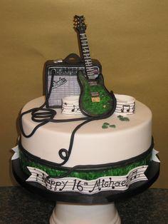 Guitar music birthday cake