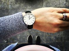 Cluse watch La bohéme Silver white/black, fashion item.