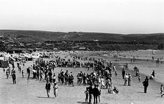 Beach sports on Brighton beach by State Library of South Australia