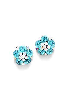 Crystal Blue Savannah Earrings