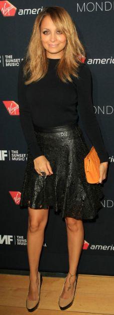 Nicole is my style muse!!!   Amazy!!!        Shoes - Jimmy Choo Skirt - Winter Kate Sweater - Thierry Mugler Mugler Cutout Back Blouse Winter Kate Lasercut Skirt Jimmy Choo Sepia