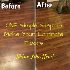 Laminate Floors – Make Them Shine Again! Easy DIY step to make laminate floors shine like new!