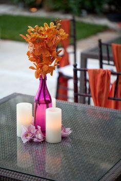 Purple and Orange Wedding Inspiration » KnotsVilla