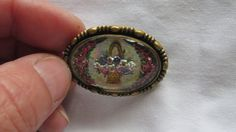 Antique Gold Victorian Intaglios Floral Brooch by ReVintageLannie, $75.00