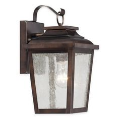 Minka Lavery Irvington Manor1-Light Wall-Mount Outdoor Lantern In Chelsea Bronze