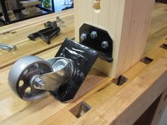Split Roubo Workbench #25: Workbench Bling Yo - by lysdexic @ LumberJocks.com ~ woodworking community