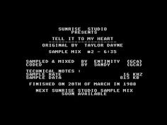 Tell It To My Heart by Sunrise Studio, 1988   Atari ST Music Demo   1440p/50fps - YouTube