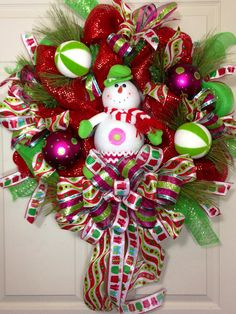 Christmas Mesh Wreath on Etsy, $99.00