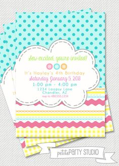 PARTY PRINTABLE - Lalaloopsy Inspired Party Printable Birthday Invitation - Petite Party Studio on Etsy, $15.00