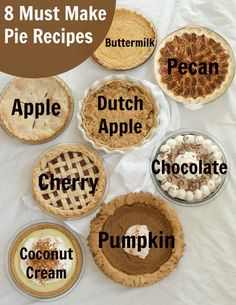 8 Must-Make Pie Recipes for Your Holidays ~ You need something delicious to fill your favorite pie crust – so I've pulled together my 8 favorite pie recipes for you, all in one place!