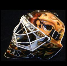 Miikka Kiprusoff, Calgary Flames Goalie Gear, Goalie Mask, Hockey Goalie, Nhl, Calgary, Football Helmets, Passion, Sports, Baby