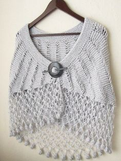 Soft Gray White  Capelet Oversized FREE  Worldwide by asuhan, $75.00