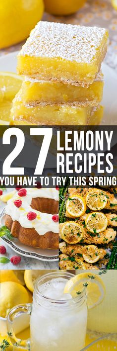 Amazing lemon recipes to satisfy all your citrus desires, perfect for the warm weather! You have to try them all!