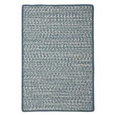 Colonial Mills-Panama Jack Cadence Collection-CA51 Blue Braided Braided Rug   A fresh blend of colors combine to create an eye-catching design that is soft underfoot and practical for use any living area.