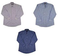 Kirkland Signature Men 80/2 Dress Shirt Non Iron 100% Cotton Striped NEW #KirklandSignature #DressShirt