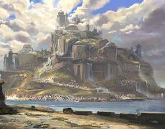 Risultati immagini per fantasy cloud city landscape Fantasy City, Fantasy Castle, Fantasy Map, Fantasy Places, Fantasy Kunst, High Fantasy, Medieval Fantasy, Fantasy World, Fantasy Art Landscapes