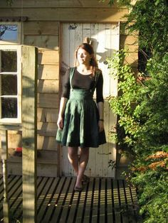 Green Pleated Pinafore Dress! (Old Curtains :P ) (Now with small tutorial!) - CLOTHING