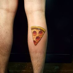 Pepperoni Pizza Tattoo - by me Harry Catsis @ Bound By Design Denver CO